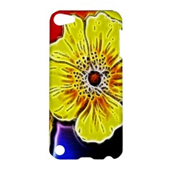 Beautiful Fractal Flower In 3d Glass Frame Apple Ipod Touch 5 Hardshell Case by Simbadda