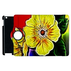 Beautiful Fractal Flower In 3d Glass Frame Apple Ipad 2 Flip 360 Case by Simbadda