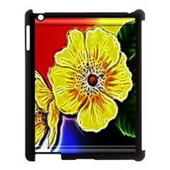 Beautiful Fractal Flower In 3d Glass Frame Apple Ipad 3/4 Case (black) by Simbadda