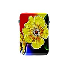 Beautiful Fractal Flower In 3d Glass Frame Apple Ipad Mini Protective Soft Cases by Simbadda