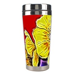 Beautiful Fractal Flower In 3d Glass Frame Stainless Steel Travel Tumblers by Simbadda