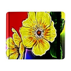 Beautiful Fractal Flower In 3d Glass Frame Samsung Galaxy Tab Pro 8 4  Flip Case by Simbadda