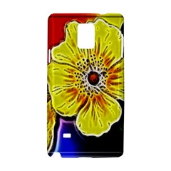 Beautiful Fractal Flower In 3d Glass Frame Samsung Galaxy Note 4 Hardshell Case by Simbadda
