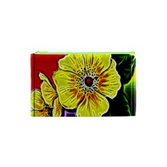 Beautiful Fractal Flower In 3d Glass Frame Cosmetic Bag (xs) by Simbadda