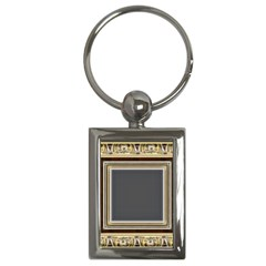Fractal Classic Baroque Frame Key Chains (rectangle)  by Simbadda