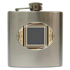 Fractal Classic Baroque Frame Hip Flask (6 Oz) by Simbadda