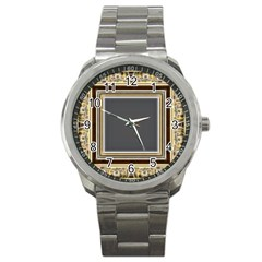 Fractal Classic Baroque Frame Sport Metal Watch by Simbadda