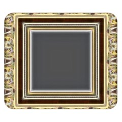 Fractal Classic Baroque Frame Double Sided Flano Blanket (small)  by Simbadda
