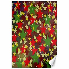 Star Abstract Multicoloured Stars Background Pattern Canvas 24  X 36  by Simbadda