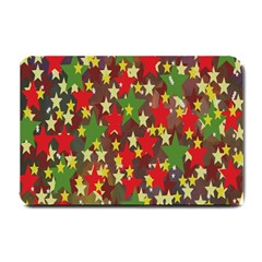 Star Abstract Multicoloured Stars Background Pattern Small Doormat