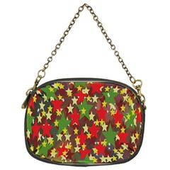 Star Abstract Multicoloured Stars Background Pattern Chain Purses (one Side)  by Simbadda
