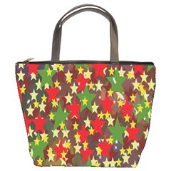 Star Abstract Multicoloured Stars Background Pattern Bucket Bags by Simbadda