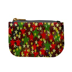 Star Abstract Multicoloured Stars Background Pattern Mini Coin Purses by Simbadda