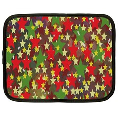 Star Abstract Multicoloured Stars Background Pattern Netbook Case (xl)