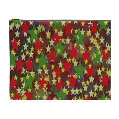 Star Abstract Multicoloured Stars Background Pattern Cosmetic Bag (xl) by Simbadda