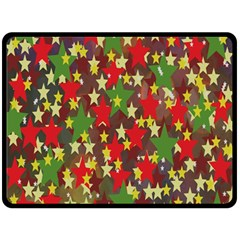 Star Abstract Multicoloured Stars Background Pattern Fleece Blanket (large)