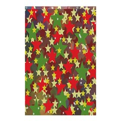 Star Abstract Multicoloured Stars Background Pattern Shower Curtain 48  X 72  (small)  by Simbadda