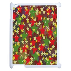 Star Abstract Multicoloured Stars Background Pattern Apple Ipad 2 Case (white) by Simbadda
