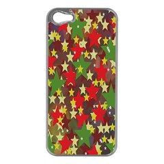 Star Abstract Multicoloured Stars Background Pattern Apple Iphone 5 Case (silver)
