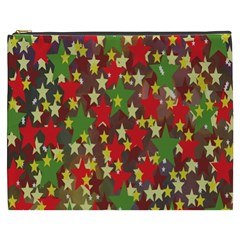 Star Abstract Multicoloured Stars Background Pattern Cosmetic Bag (xxxl)