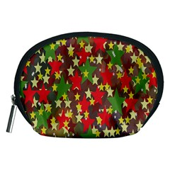 Star Abstract Multicoloured Stars Background Pattern Accessory Pouches (medium)  by Simbadda