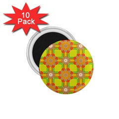 Floral Pattern Wallpaper Background Beautiful Colorful 1 75  Magnets (10 Pack)