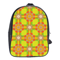 Floral Pattern Wallpaper Background Beautiful Colorful School Bags(large)  by Simbadda