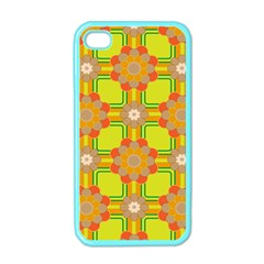 Floral Pattern Wallpaper Background Beautiful Colorful Apple Iphone 4 Case (color) by Simbadda