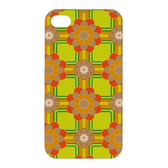 Floral Pattern Wallpaper Background Beautiful Colorful Apple Iphone 4/4s Premium Hardshell Case by Simbadda