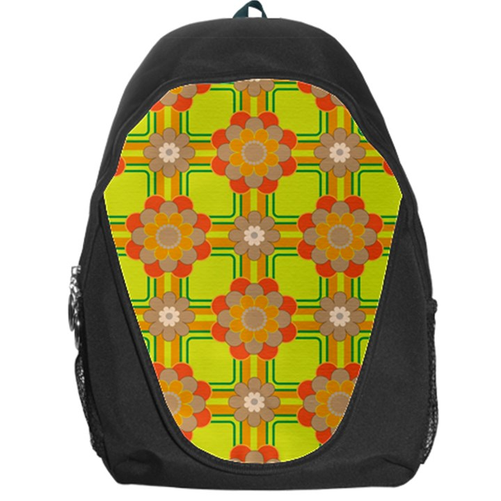 Floral Pattern Wallpaper Background Beautiful Colorful Backpack Bag