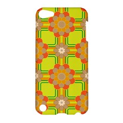 Floral Pattern Wallpaper Background Beautiful Colorful Apple Ipod Touch 5 Hardshell Case by Simbadda