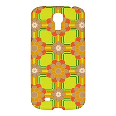 Floral Pattern Wallpaper Background Beautiful Colorful Samsung Galaxy S4 I9500/i9505 Hardshell Case by Simbadda
