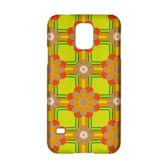 Floral Pattern Wallpaper Background Beautiful Colorful Samsung Galaxy S5 Hardshell Case  by Simbadda