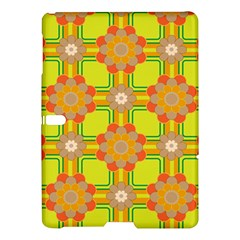 Floral Pattern Wallpaper Background Beautiful Colorful Samsung Galaxy Tab S (10 5 ) Hardshell Case  by Simbadda