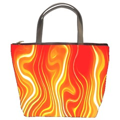 Fire Flames Abstract Background Bucket Bags by Simbadda