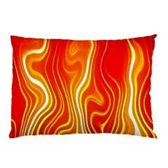 Fire Flames Abstract Background Pillow Case