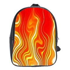Fire Flames Abstract Background School Bags(large)  by Simbadda