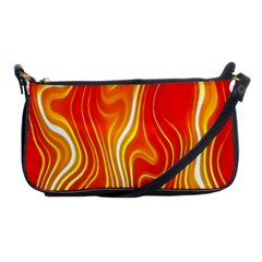 Fire Flames Abstract Background Shoulder Clutch Bags by Simbadda