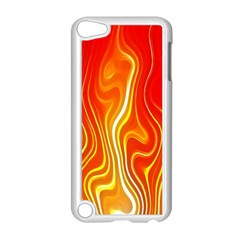 Fire Flames Abstract Background Apple Ipod Touch 5 Case (white) by Simbadda
