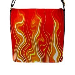 Fire Flames Abstract Background Flap Messenger Bag (l)