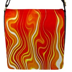 Fire Flames Abstract Background Flap Messenger Bag (s) by Simbadda