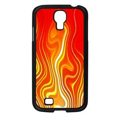 Fire Flames Abstract Background Samsung Galaxy S4 I9500/ I9505 Case (black) by Simbadda