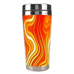 Fire Flames Abstract Background Stainless Steel Travel Tumblers by Simbadda