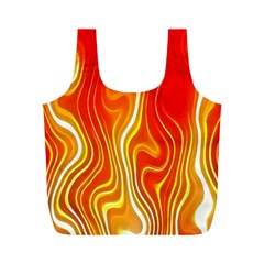 Fire Flames Abstract Background Full Print Recycle Bags (m)  by Simbadda