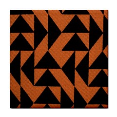 Brown Triangles Background Tile Coasters