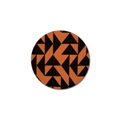 Brown Triangles Background Golf Ball Marker (4 Pack) by Simbadda