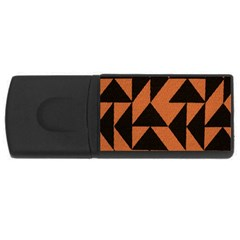 Brown Triangles Background Usb Flash Drive Rectangular (4 Gb) by Simbadda
