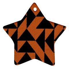 Brown Triangles Background Star Ornament (two Sides) by Simbadda