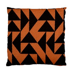 Brown Triangles Background Standard Cushion Case (one Side) by Simbadda