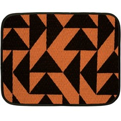 Brown Triangles Background Double Sided Fleece Blanket (mini)